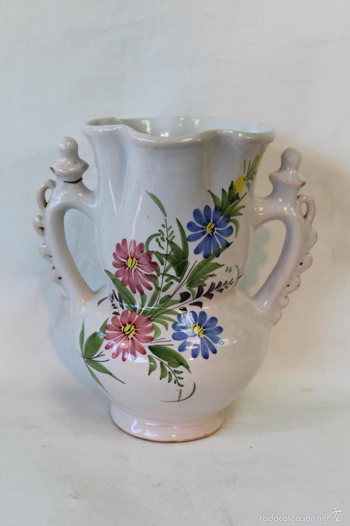 JARRA DE NOVIA EN CERAMICA LARIO (Antigüedades - Porcelanas y Cerámicas - Lario)