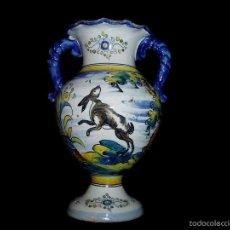 Antigüedades - Jarrón de Talavera Saso - 55556068