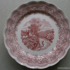 Antigüedades: IMPRESIONANTE PLATO PORCELANA ITALIA DE 30 CMTS.. Lote 55565230