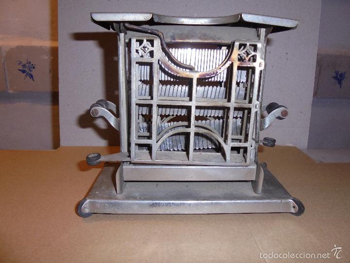 Antigüedades: (M) ANTIGUA TOSTADORA ELECTRICA - AÑOS 20/30 - TODO UN INGENIO INDUSTRIAL . 19,5 X10 CM. 17 CM. DE - Foto 2 - 55568803