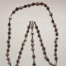 Antigüedades: GRAN ROSARIO DE CUENTAS DE SEMILLA CON PRECIOSA CRUZ. Lote 55570755