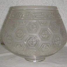 Antigüedades: ANTIGUA TULIPA O PLAFÓN DE LAMPARA. CRISTAL TALLADO.. Lote 55571608