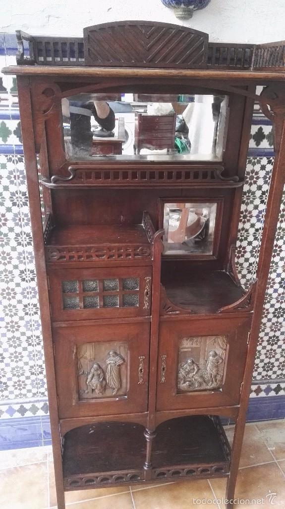 MUEBLE MODERNISTA CATALAN (Antigüedades - Muebles Antiguos - Auxiliares Antiguos)