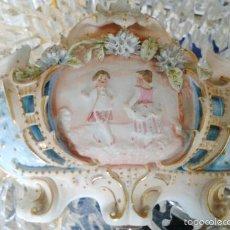 Antigüedades: CENTRO DE MESA FRANCES PORCELANA FINES DEL XIX (26 X 14 X11 CM). Lote 103669015