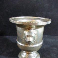 Antigüedades: PEQUEÑO MACETERO EN SILVER PLATED ITALY. Lote 55640575