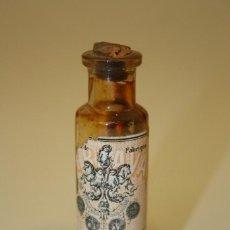 Antigüedades: BOTELLIN CRISTAL MEDICAMENTO ``FER BRAVAIS´´ RECONSTITUYENTE SIGLO XIX O PRINCIPIOS XX. Lote 55677297