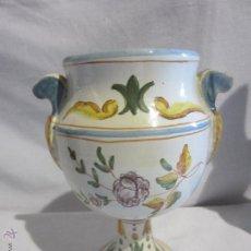 Antigüedades: BONITO JARRON DE ALCORA - 19 CM X 15 CM. Lote 55681549