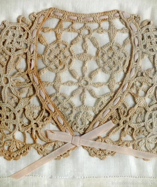 antiguo y bonito cuello de encaje - crochet - c - Comprar Encajes ...