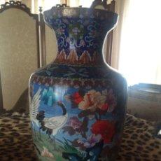 Antigüedades: JARRÓN PORCELANA CHINA CLOISSONE. Lote 55686281