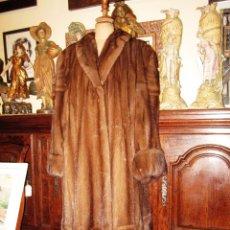 Antigüedades: INCREIBLE ABRIGO VISON AUTENTICO A UNA QUINTA PARTE DE SU VALOR. Lote 55688579