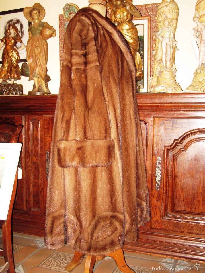 Antigüedades: INCREIBLE ABRIGO VISON AUTENTICO A UNA QUINTA PARTE DE SU VALOR - Foto 4 - 55688579