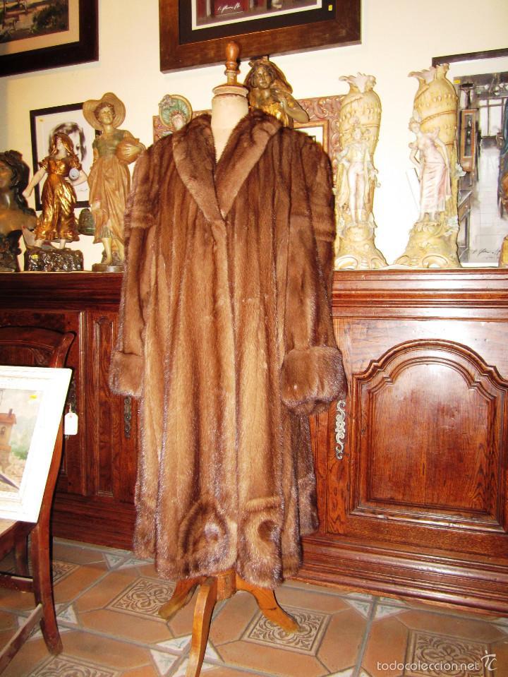 Antigüedades: INCREIBLE ABRIGO VISON AUTENTICO A UNA QUINTA PARTE DE SU VALOR - Foto 5 - 55688579