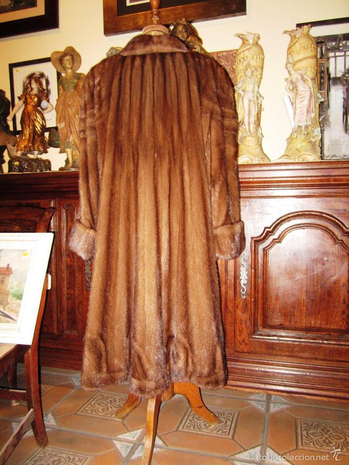 Antigüedades: INCREIBLE ABRIGO VISON AUTENTICO A UNA QUINTA PARTE DE SU VALOR - Foto 9 - 55688579