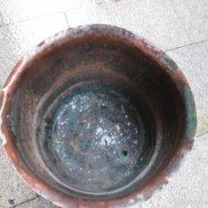 Antigüedades: ANTIGUO POTE TINA COBRE - PROCEDE DE TINTORERIA TEÑIDOS, APROX 1930, 56CM DIAMETRO 46 ALTO 10KG PO +. Lote 55690569
