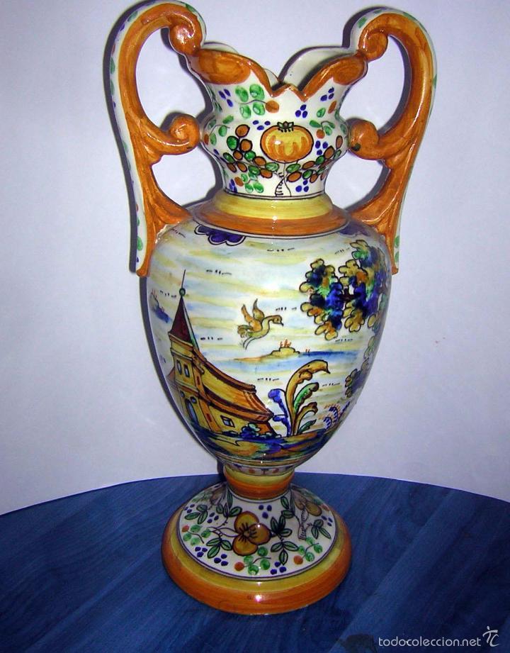 JARRÓN ANTIGUO DE TALAVERA (Antigüedades - Porcelanas y Cerámicas - Talavera)