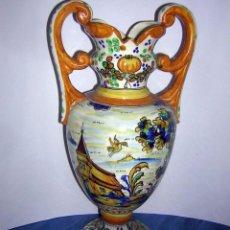 Antigüedades: JARRÓN ANTIGUO DE TALAVERA. Lote 55690973