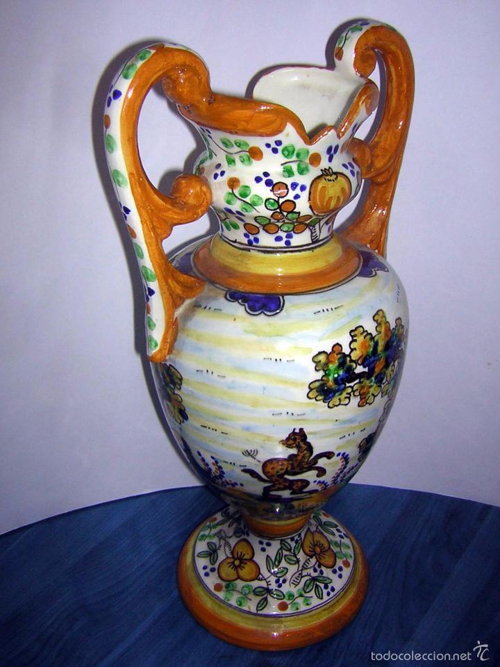 Antigüedades: JARRÓN ANTIGUO DE TALAVERA - Foto 4 - 55690973