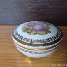 Antigüedades: CAJA DE PORCELANA FRANCESA LIMOGES. Lote 80449750
