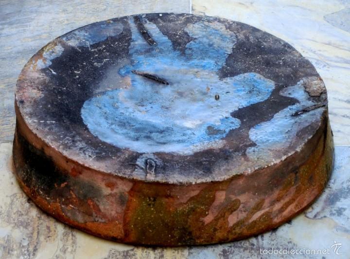 Antigüedades: CAZUELA DE BARRO VITRIFICADO - PRECIOSO TONOS VERDOSOS CON BONITOS REFLEJOS - RECIPIENTE HORNO - Foto 17 - 55692981