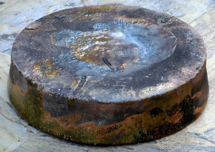 Antigüedades: CAZUELA DE BARRO VITRIFICADO - PRECIOSO TONOS VERDOSOS CON BONITOS REFLEJOS - RECIPIENTE HORNO - Foto 23 - 55692981