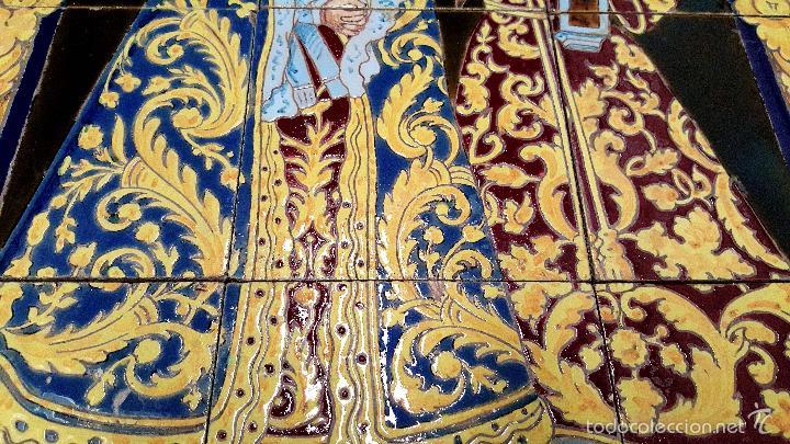 Antigüedades: N. P. JESUS DE LOS AFLIGIDOS,Mª. STA. DE LOS DESCONSUELOS,PANEL DE AZULEJOS DE TRIANA ,(SEVILLA) - Foto 4 - 55694278