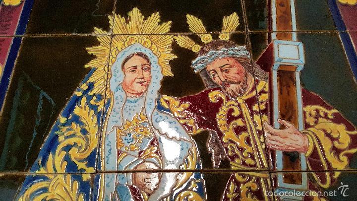 Antigüedades: N. P. JESUS DE LOS AFLIGIDOS,Mª. STA. DE LOS DESCONSUELOS,PANEL DE AZULEJOS DE TRIANA ,(SEVILLA) - Foto 5 - 55694278