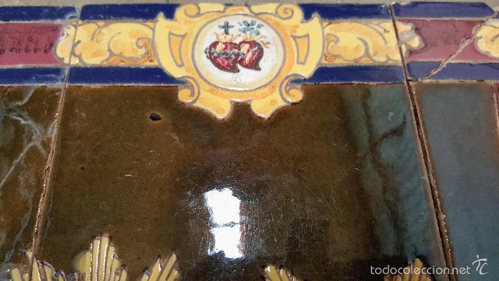 Antigüedades: N. P. JESUS DE LOS AFLIGIDOS,Mª. STA. DE LOS DESCONSUELOS,PANEL DE AZULEJOS DE TRIANA ,(SEVILLA) - Foto 6 - 55694278