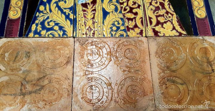 Antigüedades: N. P. JESUS DE LOS AFLIGIDOS,Mª. STA. DE LOS DESCONSUELOS,PANEL DE AZULEJOS DE TRIANA ,(SEVILLA) - Foto 7 - 55694278