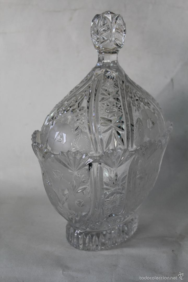Antigüedades: BOMBONERA EN CRISTAL DE BOHEMIA - Foto 3 - 55697900