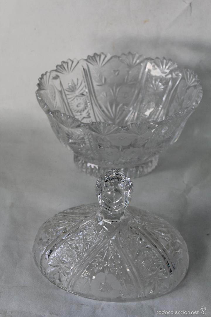Antigüedades: BOMBONERA EN CRISTAL DE BOHEMIA - Foto 4 - 55697900