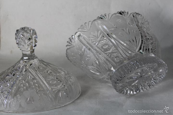 Antigüedades: BOMBONERA EN CRISTAL DE BOHEMIA - Foto 5 - 55697900