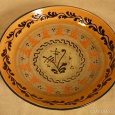 Antigüedades: PLATO DE CERAMICA PUIGDEMONT LA BISBAL. Lote 55700317