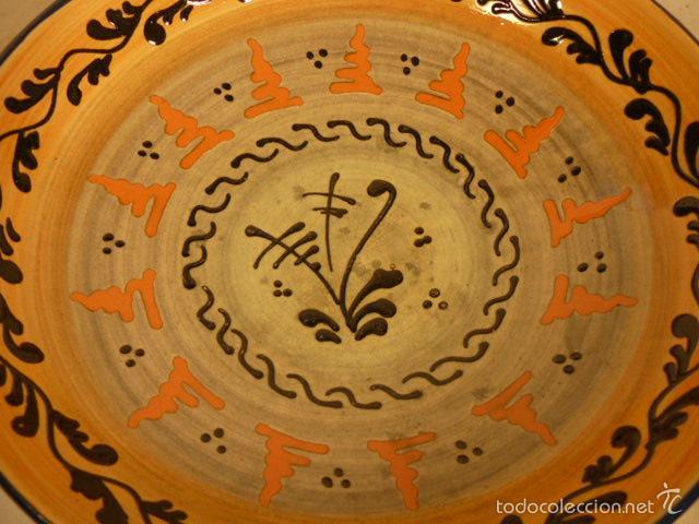 Antigüedades: PLATO DE CERAMICA PUIGDEMONT LA BISBAL - Foto 2 - 55700317