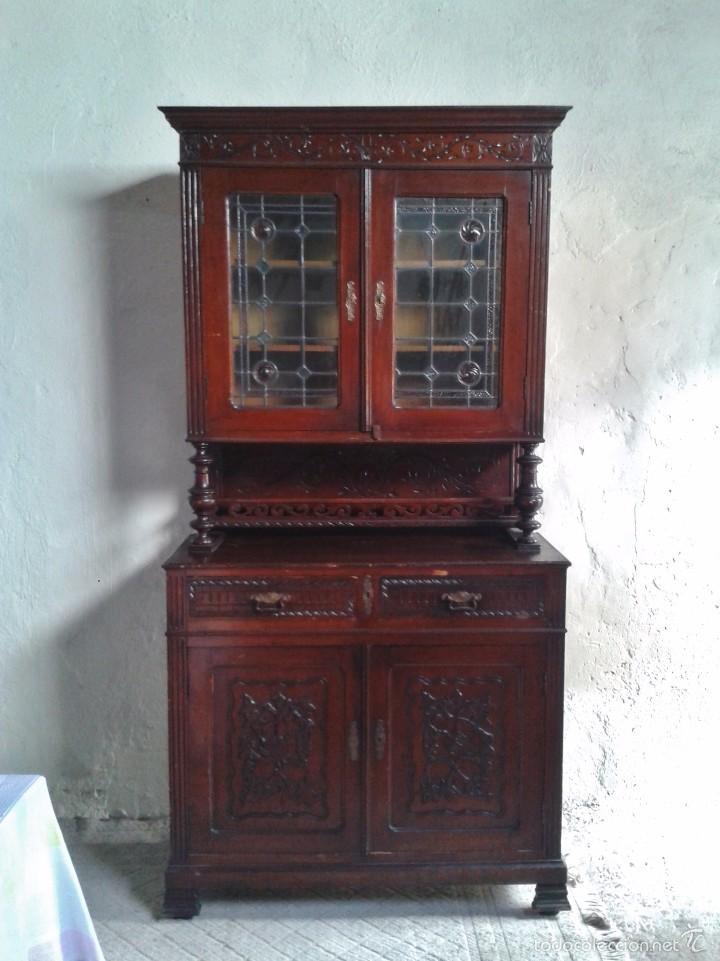 Artesanato Geraldi Mdf ~ vitrina antigua librero antiguo aparador antigu Comprar
