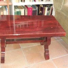 Antigüedades: MESA AUXILIAR ESTILO RUSTICO PATA DE LIRA . Lote 55730054