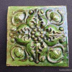 Antigüedades: CERÁMICA CATALANA: AZULEJO MODERNISTA. Lote 55742202
