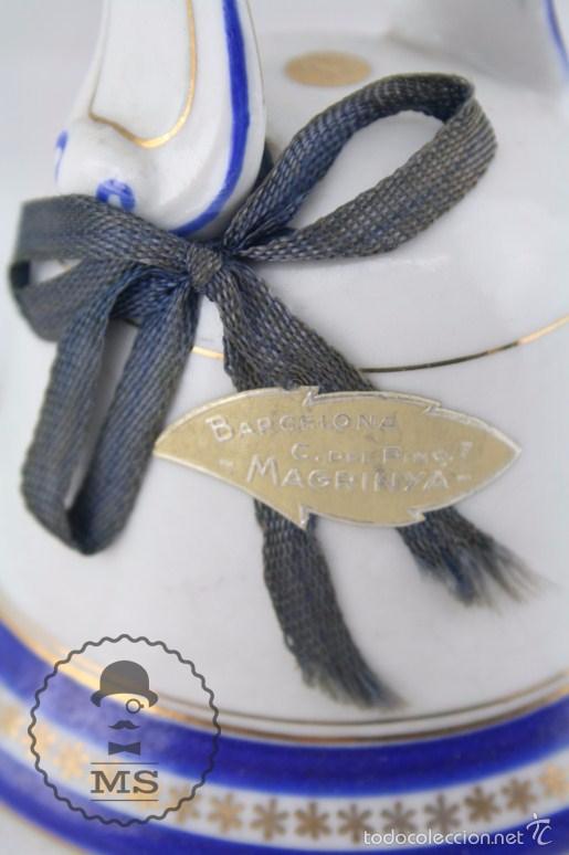 Antigüedades: Campanilla de Porcelana / Cerámica - Jäger - Casa Comercial Magrinya - Medidas 9,5 x 9,5 x 14,5 Cm - Foto 2 - 55742204