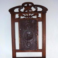 Antigüedades: FABULOSO CONJUNTO DE 4 SILLAS, PRINCIPIO SIGLO XX.. Lote 55782376
