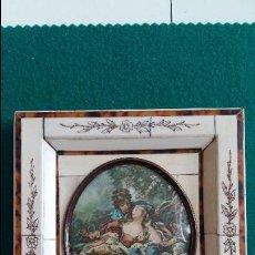 Antigüedades: MARCO DE MARFIL Y CAREY, S.XIX.. Lote 55783957