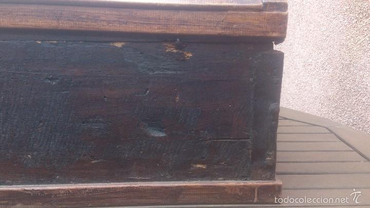 Antigüedades: ANTIGUO BAUL CON CERRADURA Y LLAVE FUNCIONANDO, SIGLO XVIII - XIX . - Foto 17 - 55788518