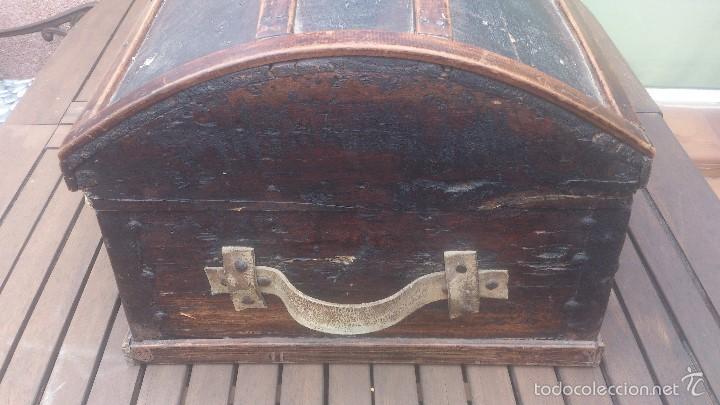 Antigüedades: ANTIGUO BAUL CON CERRADURA Y LLAVE FUNCIONANDO, SIGLO XVIII - XIX . - Foto 20 - 55788518