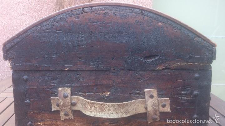 Antigüedades: ANTIGUO BAUL CON CERRADURA Y LLAVE FUNCIONANDO, SIGLO XVIII - XIX . - Foto 21 - 55788518