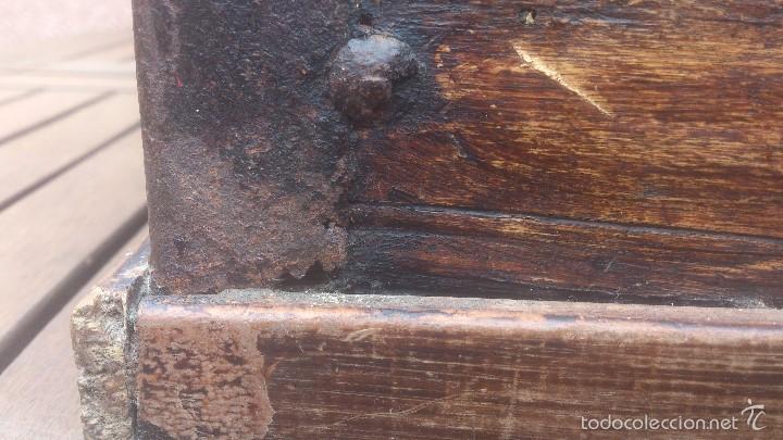 Antigüedades: ANTIGUO BAUL CON CERRADURA Y LLAVE FUNCIONANDO, SIGLO XVIII - XIX . - Foto 27 - 55788518