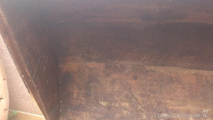 Antigüedades: ANTIGUO BAUL CON CERRADURA Y LLAVE FUNCIONANDO, SIGLO XVIII - XIX . - Foto 30 - 55788518