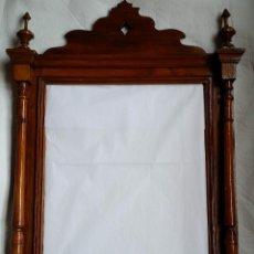 Antigüedades: ESPEJO MARCO ANTIGUO TORNEADO SOLO MADRID. Lote 55794934