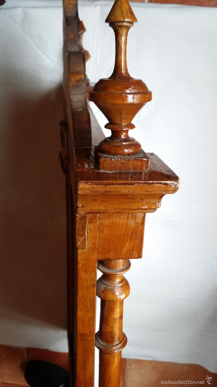 Antigüedades: ESPEJO MARCO ANTIGUO torneado SOLO MADRID - Foto 2 - 55794934
