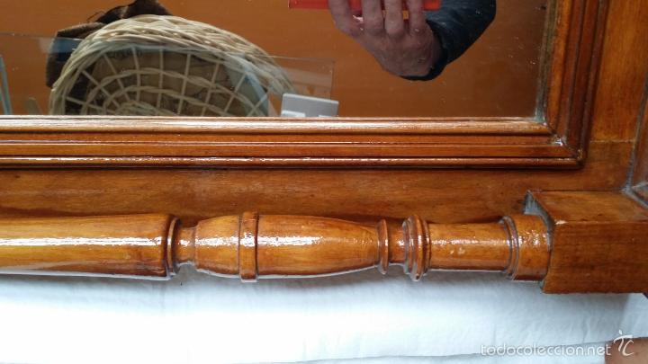 Antigüedades: ESPEJO MARCO ANTIGUO torneado SOLO MADRID - Foto 8 - 55794934