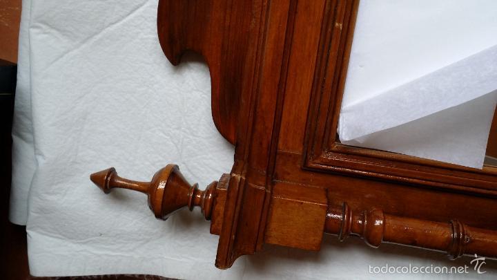 Antigüedades: ESPEJO MARCO ANTIGUO torneado SOLO MADRID - Foto 11 - 55794934