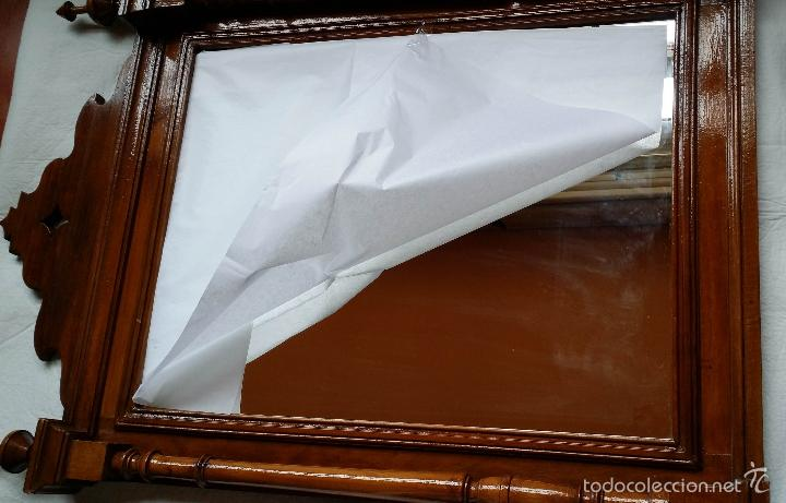 Antigüedades: ESPEJO MARCO ANTIGUO torneado SOLO MADRID - Foto 12 - 55794934