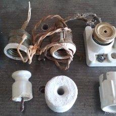 Antigüedades: LOTE DE ANTIGUOS ACCESORIOS ELECTRICOS. Lote 55802050